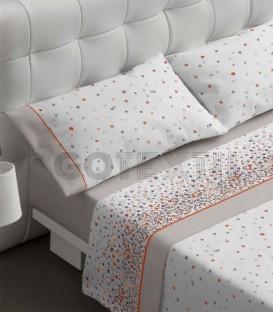 Juego de sábanas modelo 460 color piedra fabricado por Burrito Blanco