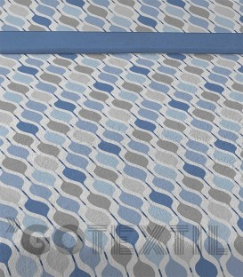 Detalle tejido del Juego de Sábanas de Coralina Pleya Azul Karamelo Premiun