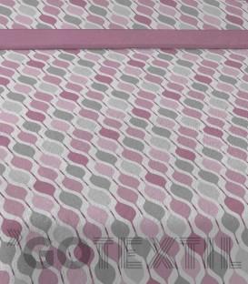 Detalle tejido del Juego de Sábanas de Coralina Pleya Fresa Karamelo Premiun