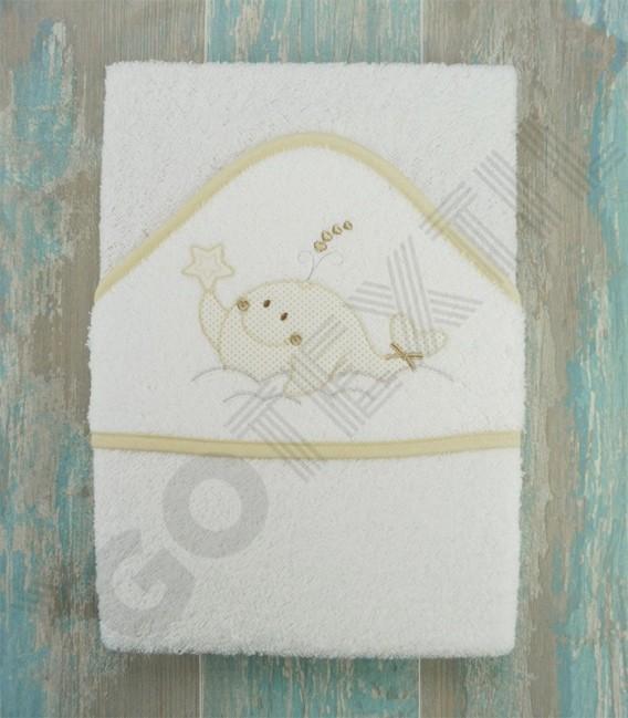 Capa de baño Ballenita algodón 100% Arcababy 100x100cm