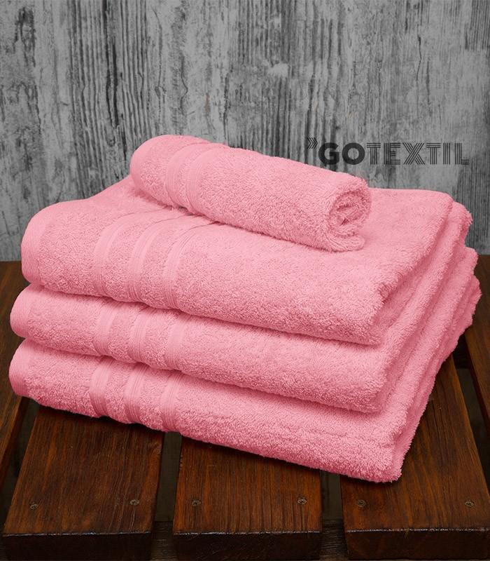 Toalla rizo americano algod n 100 suave y absorvente de color rosa - Toallas de algodon ...