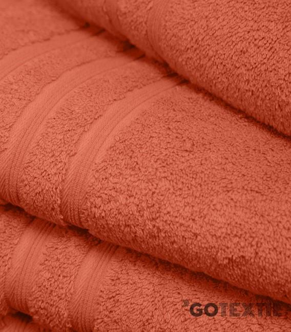 Toalla de Rizo Americano Algodón 100% Color Naranja