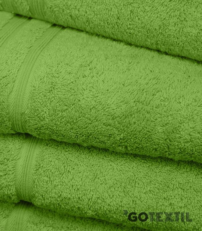 Toalla rizo americano algod n 100 suave y absorvente de color verde - Toallas de algodon ...