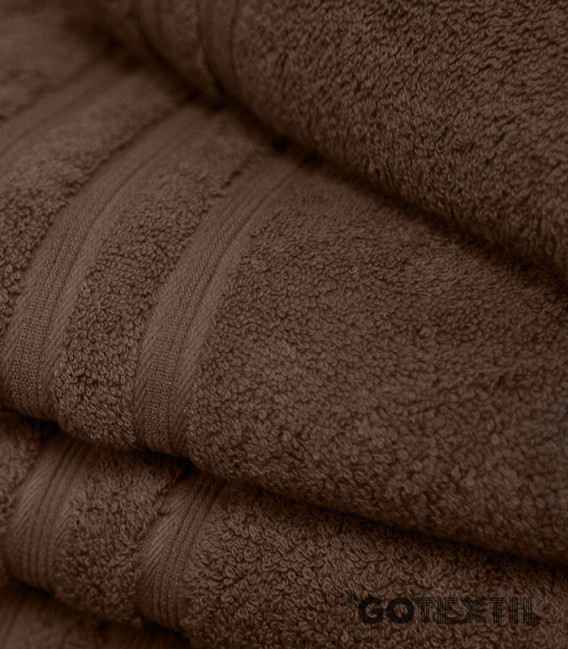 Detalle de la Toalla de Rizo Americano Algodón 100% Color Chocolate