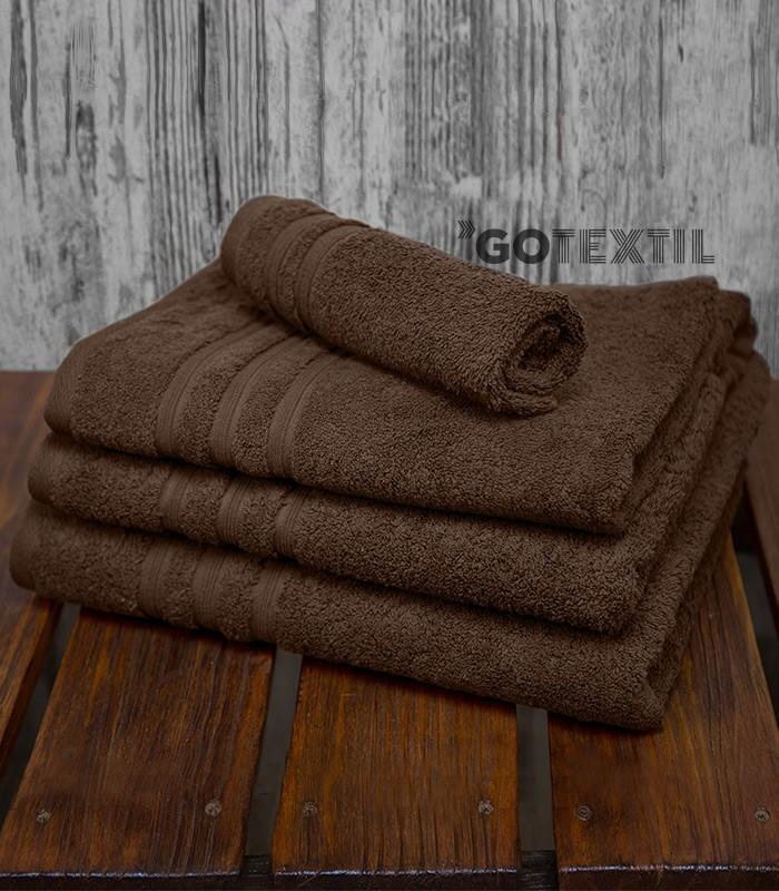 Toalla rizo americano algod n 100 suave y absorvente color chocolate - Toallas de algodon ...