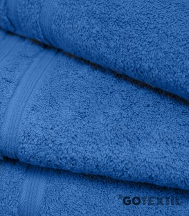 Detalle de la Toalla de Rizo Americano Algodón 100% Color Azul