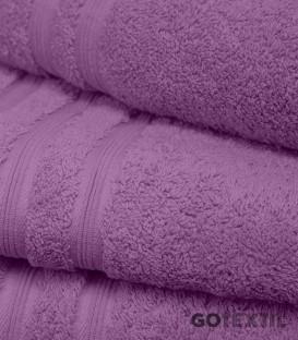 Detalle de la Toalla de Rizo Americano Algodón 100% Color Lila