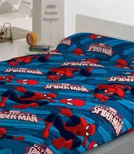Juego de Sábanas de Coralina Spiderman Ultimate. Azul