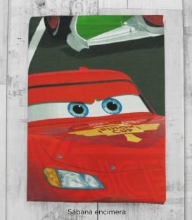 Sábana Encimera del Juego de Sábanas Cars Fórmula Racers