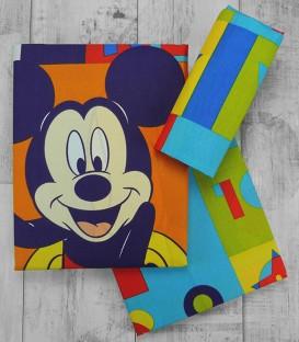 Juego de Sábanas algodón Mickey modelo 16 Tres Piezas
