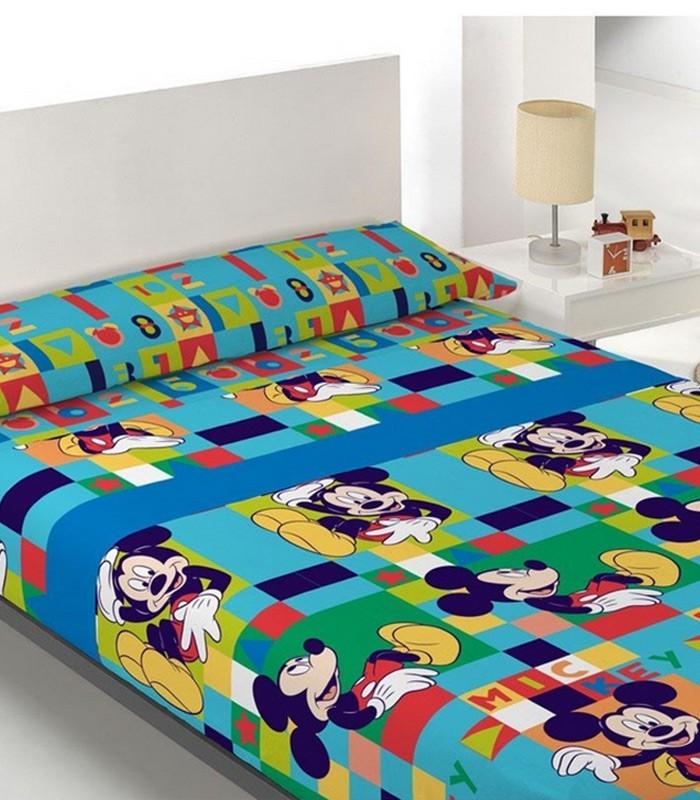 Juego s banas mickey mouse modelo 16 algod n 100 para camas de 105cm - Juego sabanas infantiles ...