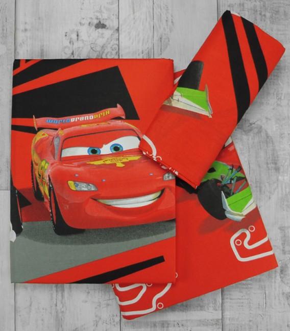 Juego de Sábanas Cars Rayo McQueen 3 Piezas
