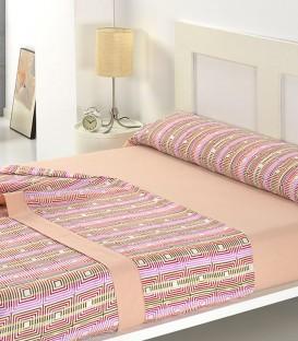 Juego de sábanas F 55 Salmón Textils Mora