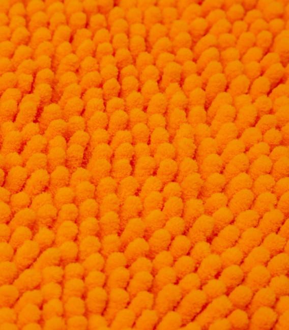 Detalle de la Alfombra de Microfibra Súper Absorbente Color Naranja