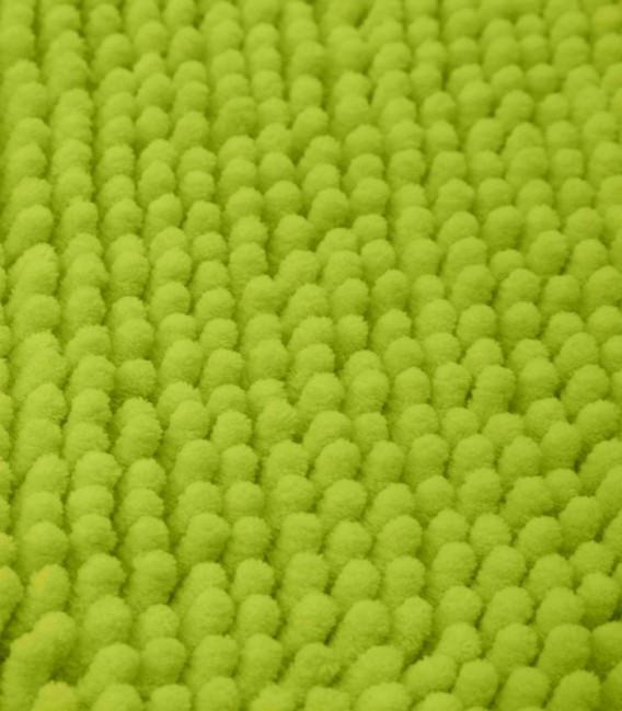Detalle de la Alfombra de Microfibra Súper Absorbente Color Pistacho