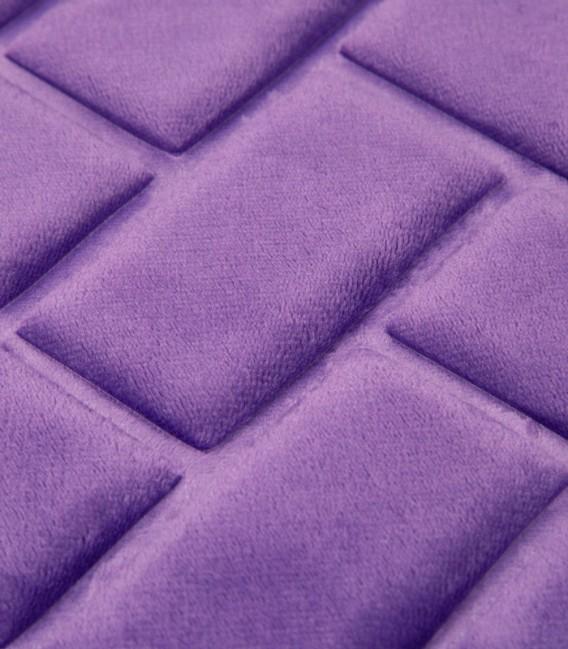 Detalle de la Alfombra de baño Microfibra Modelo Ladrillos Color Morado