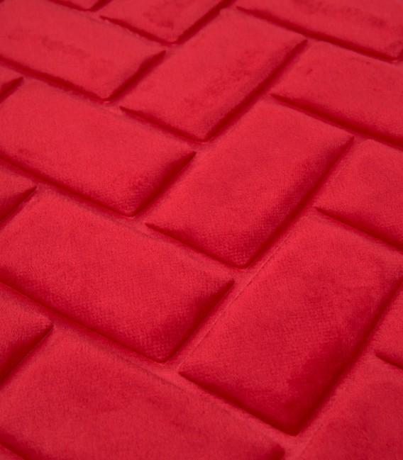 Detalle de la Alfombra de baño Microfibra Modelo Ladrillos Color Rojo