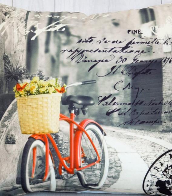 Detalle del Cojín Bicicleta Naranja de Kotibe