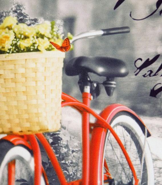 Ampliación de detalle del Cojín Bicicleta Naranja de Kotibe