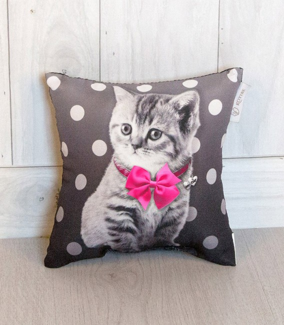 Cojín Pequeño 20x20cm Cat Fucsia de Kotibe