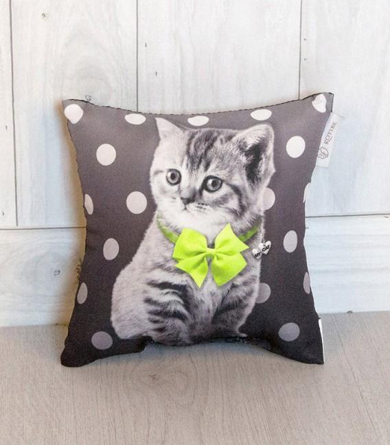 Cojín Pequeño 20x20cm Cat Verde de Kotibe