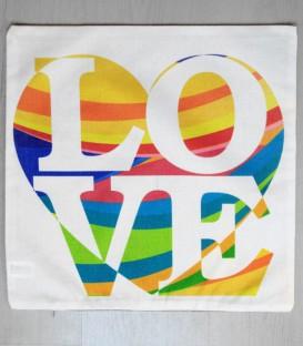 Funda de Cojín Love con corazón