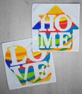 Pack 2 Fundas de Cojín Love Home