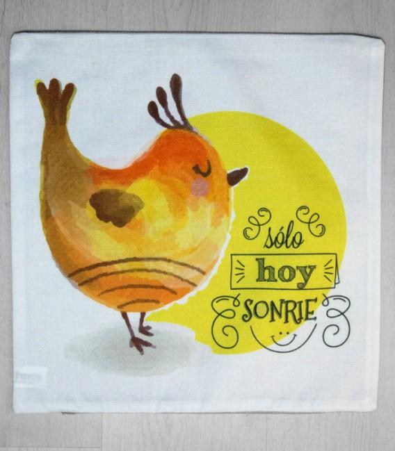 Funda de Cojín Pollito Love Color Amarillo