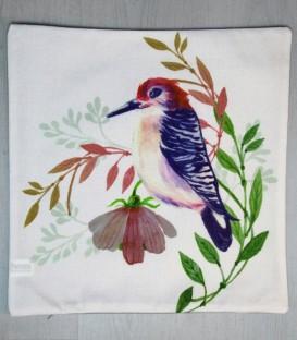 Funda de Cojín Loneta Birds Modelo pájaro colorido