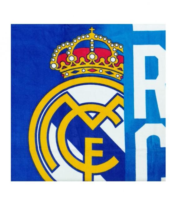 Detalle del tejido de la Toalla Real Madrid modelo ESCUDO. Algodón 100%