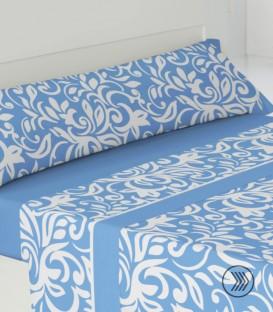 Detalle del Juego de sábanas AMALFI Azul Pierre Cardín