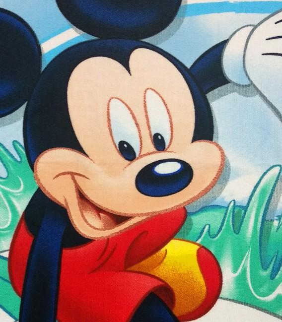 Detalle del tejido de la Toalla playa Disney MICKEY MOUSE SHACK 92115 microfibra 70x140cm