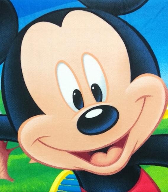 Detalle del tejido de la Toalla playa Disney MICKEY MOUSE FUTBOL microfibra 70x140cm
