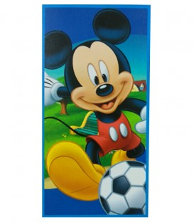 Vista previa de la Toalla playa Disney MICKEY MOUSE FUTBOL microfibra 70x140cm