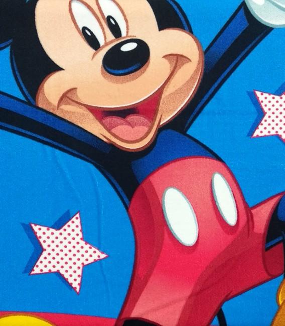 Detalle del tejido de la Toalla playa Disney MICKEY MOUSE 92113 microfibra 70x140cm