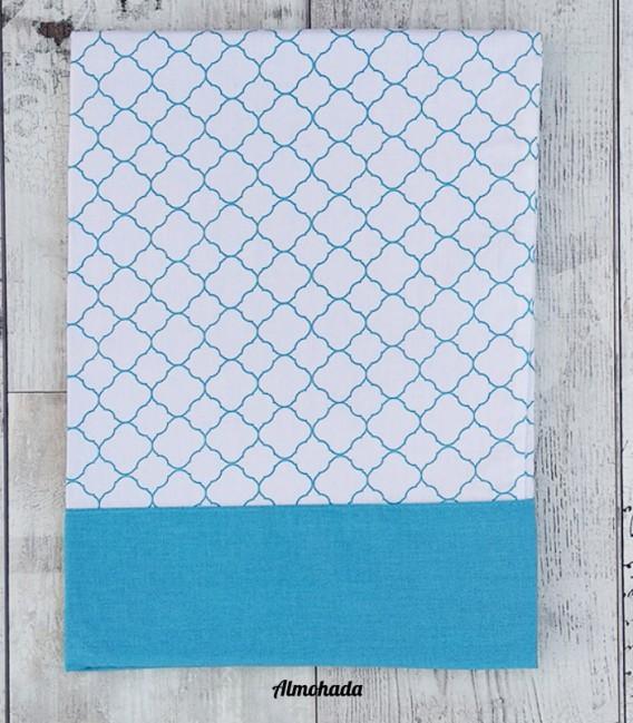 Almohada del Juego de Sábanas Algodón LACE Azul