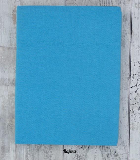 Bajera del Juego de Sábanas Algodón MELANGE Azul
