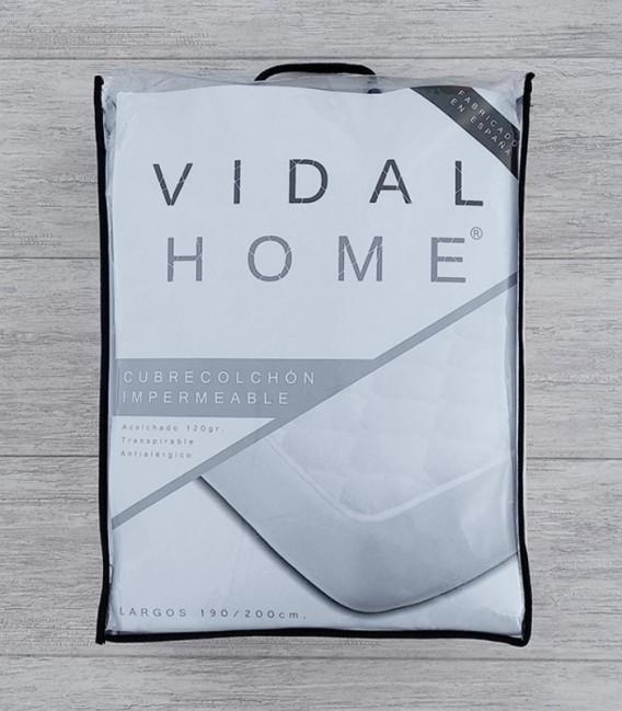 Presentación en bolsa del Protector CUBRECOLCHÓN Rizo Acolchado Impermeable. Vidal Home.