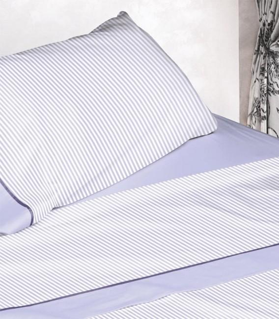 Detalle de la almohada del Juego de Sábanas Burrito Blanco 674 Azul Algodón 100%