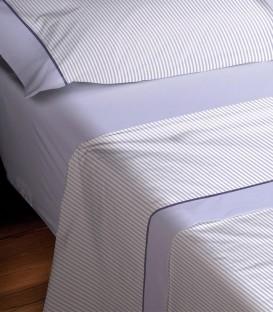 Detalle del color y tejido del Juego de Sábanas Burrito Blanco 674 Azul Algodón 100%
