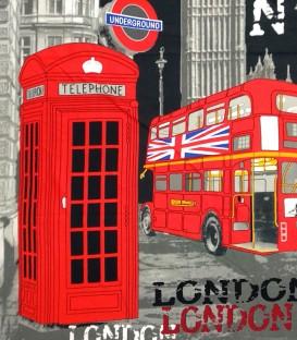 Detalle del dibujo de la Toalla Playa LONDON 10062