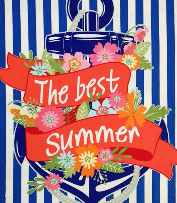 Detalle del colorido de la Toalla Playa SUMMER 10109