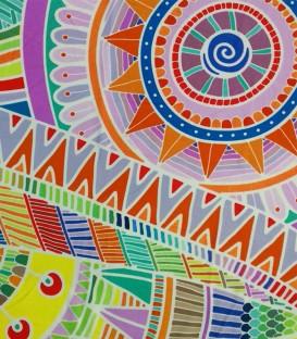 Detalle del colorido de la Toalla Playa MANDALAS 10084