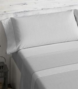 Detalle del dibujo del Juego de sábanas 466 Gris Burrito Blanco