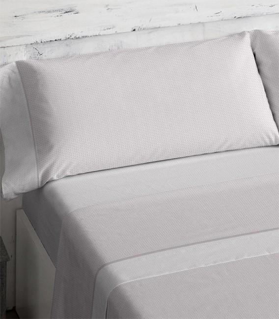Detalle del colorido del Juego de sábanas 466 Maquillaje Burrito Blanco