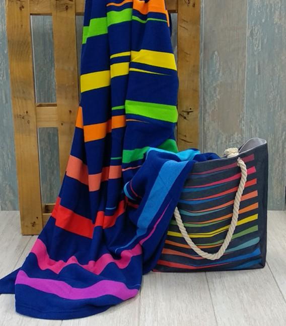 Pack Bolso Playa y Toalla XXL 180x180cm G-106