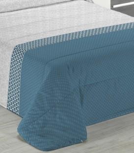 Detalle del tejido del Edredón Nórdico Edmund color azul