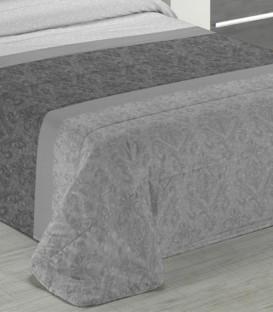 Detalle del tejido del Edredón Nórdico Confort Inga color gris