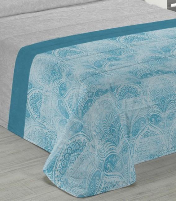 Detalle del Edredón Nórdico Confort Odette Azul