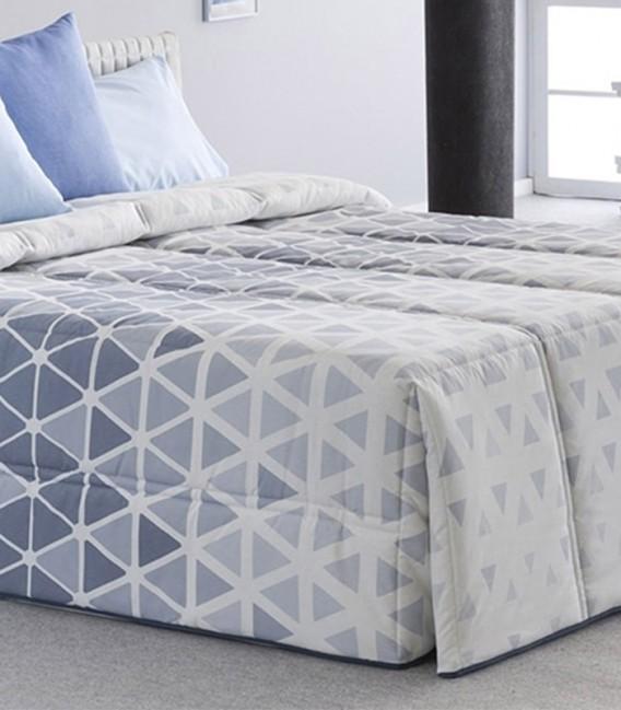 Detalle del Edredón Conforter KANSAS Azul Sansa Print